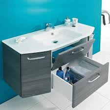 badezimmer waschplatz alina 66 mit glas waschbecken in graphit struktur quer nachb b h t 115 195 48cm