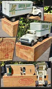 100 Single Unit Truck TONKA 6505 GREEN GIANT TRANSPORT TRUCK 1955 With BOX Single Axel