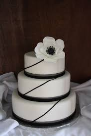 Wedding Cake Cakes Black And White Elegant