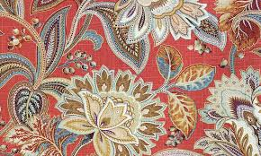 Jacobean Floral Curtain Fabric by Paisley Jacobean Fabric Vintage Rlf Home