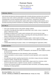 Pharmacy Cv Examples Pharmacist Example