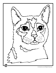 House Cat Coloring Page