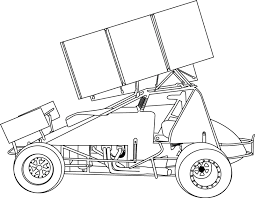 Sprint Car Coloring Page 3