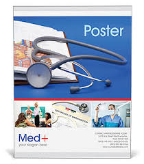 Stethoscope Medicine Book Poster Templates