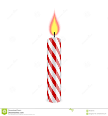 Melting Candle clipart single birthday candle 7
