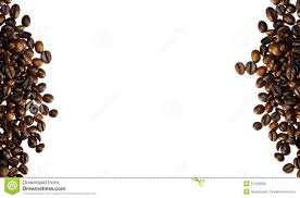 Coffee Beans On White Background Suitable For Of Borders
