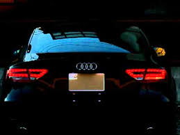audi a5 sportback rear turn signal comparison of led and halogen