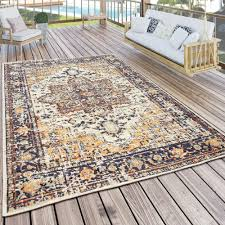 outdoor teppich orient muster bunt beige