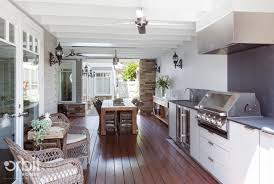 Rattan Ceiling Fans Australia by Hamptons Style Alfresco Outdoor Living Area Features A Bbq