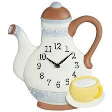 küchenuhr kaffeekanne küche uhr teekanne quarz steingutgehäuse quarzuhr casavivendi