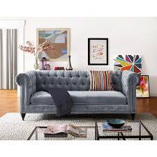 Tufted Velvet Sofa Toronto by Best 25 Gray Velvet Sofa Ideas On Pinterest Grey Velvet Sofa