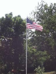Flag Pole In Yard