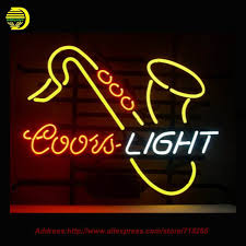 coors light saxhorn neon sign neon bulb room recreation glass