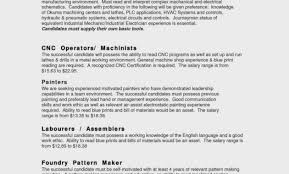 Cnc Machine Operator Resume Sample Elegant