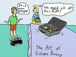 Solar Eclipse Travel Cartoons