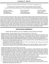 Manufacturing Engineering Management Of Product Manager With Engineer Sample Resume And Professional Experience As Assistant Chief