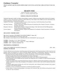 Fancy Design Counselor Resume 10 Intervention