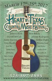 2017 Music Festivals Heart Of Texas Country Festival