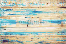 Old Wooden Background With Blue Paint Vintage Wood Texture From Beach In Summer