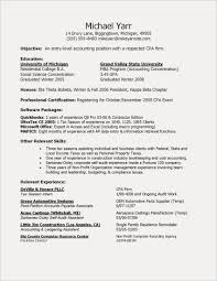 Entry Level Accounting Resume Elegant Experience Certificate Format Staff Accountant Examples