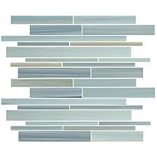 1 square foot bliss iceland and glass linear mosaic tiles