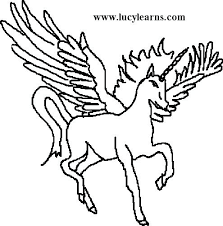 Unicorn With Wings Coloring Pages Drawn Winged