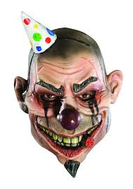 Fiber Optic Pumpkin Head Scarecrow by Clown Mask
