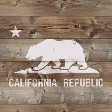 California Flag Stencil For Crafts Walls