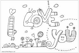 Perfect I Love You Color Pages 46 For Your Picture Coloring Page