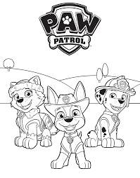 Everest Tracker And Marshall PAW Patrol Coloring Page