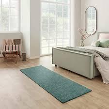 carpet studio santa fe teppich läufer flur 67x180cm weicher kurzflor teppich läufer flur schlaffzimmer wohnzimmer küche pflegeleicht