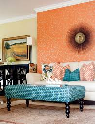 Teal Color Living Room Ideas by Mixing Patterns Living Room In Teal Orange And White Living