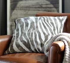 zebra pillow cover pottery barn