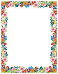 Flower Border Design Ideas Beautiful Simple Designs For A4 Paper Cliparts Of