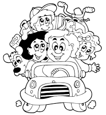 Road Trip Color A Car Template And Coloring Pages