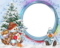 Free Baby Frame Psd Template With A Christmas Snowman And Tree