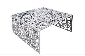 design couchtisch auburn 60cm aluminium silber
