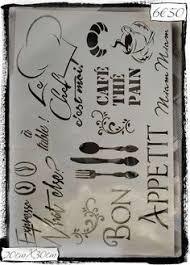 pochoir pour cuisine pochoir adhésif home déco 12 x 10 cm kit couture ecriture