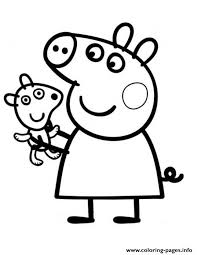 Pretty Peppa Pig Coloring Pages Print Download 475 Prints