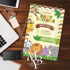 Tarjeta Kit Imprimible Safari Baby Shower 7000 En Mercado Libre