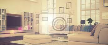 fototapete modernes wohnzimmer retro style 41