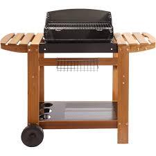 barbecue au charbon de bois naterial senlis 0 brûleurs noir et