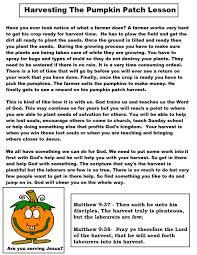 Bergmans Pumpkin Patch by Pumpkin Parable Printable Ultimate Homeschool Board Pinterest