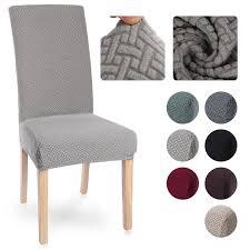 dicken einfarbigen stuhl abdeckung anti staub spandex stretch elastische hussen stuhl abdeckung esszimmer küche hochzeit hotel bankett
