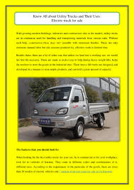 100 Best Way To Lift A Truck Know All About Utility Trucks And Their Uses Electric Truck