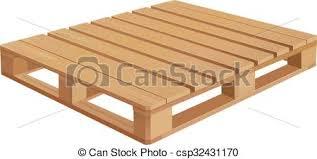 American Wooden Pallet In Perspective Vectors Illustration