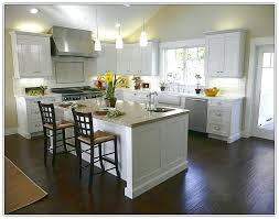 Light Wood Floors With Dark Cabinets Tile Kitchen Floor White Hardwood