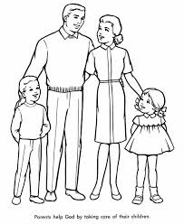 Family Perfect Colouring Page