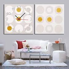 wfqgz wandbild mit uhr rahmenlose malerei moderne wohnzimmer