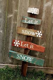 Rustic Large Pallet Christmas Tree Let It Snow Sign Reclaimed Wood
